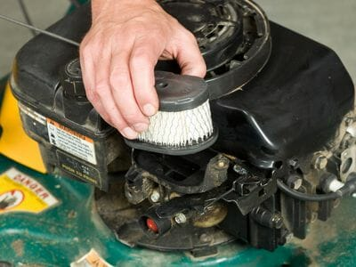How to clean a dual air filter for your lawnmower